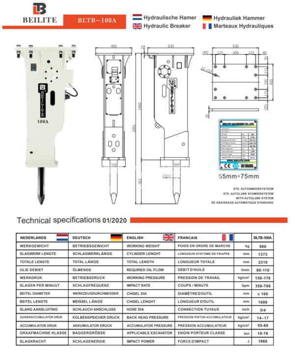 Hydrauliek Hammer anders-baumaschinen